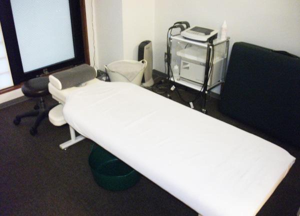 Relaxin'の施術ベッド