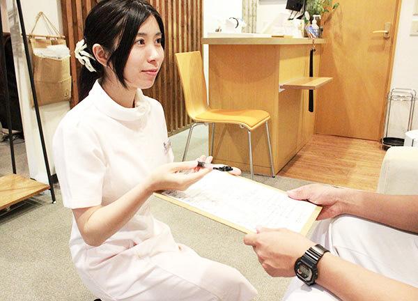やさしい鍼灸整骨院の受付