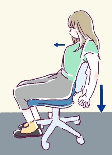 胸筋ストレッチ2の図