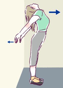 胸筋ストレッチ3の図