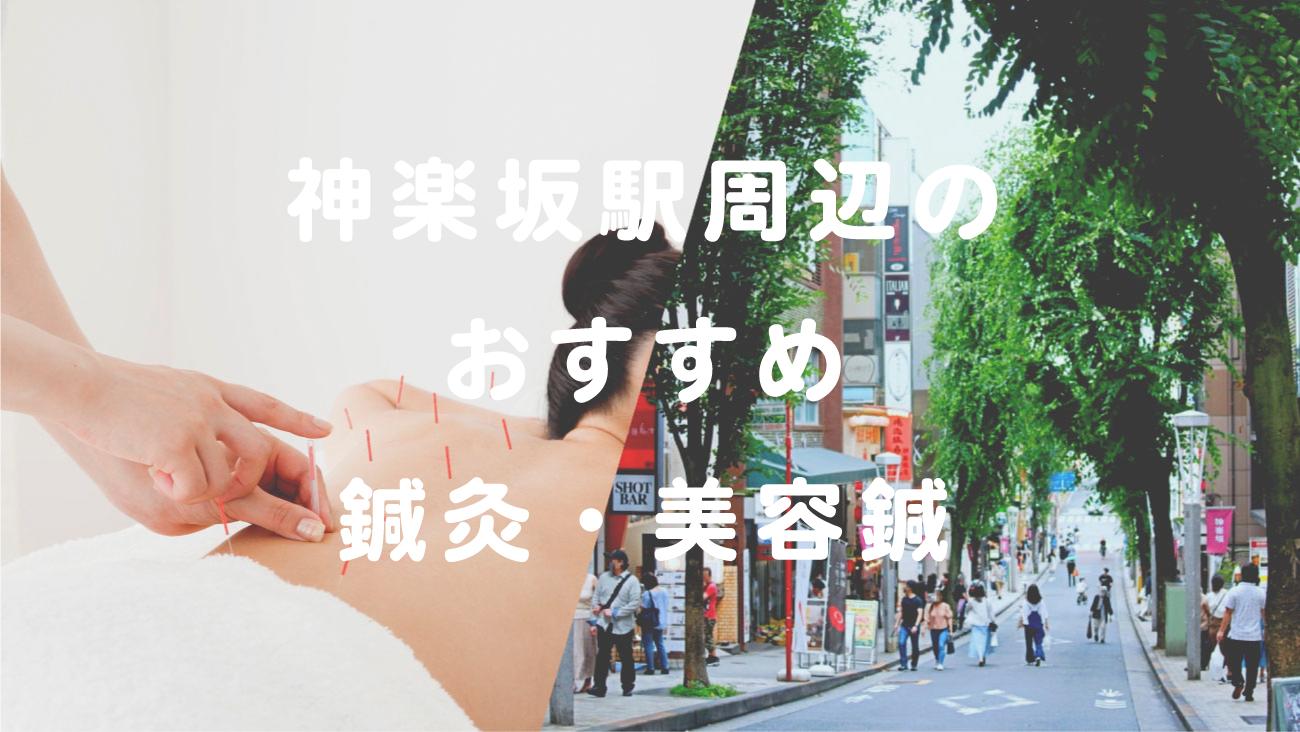 神楽坂駅周辺でおすすめの鍼灸・美容鍼のコラムのメインビジュアル