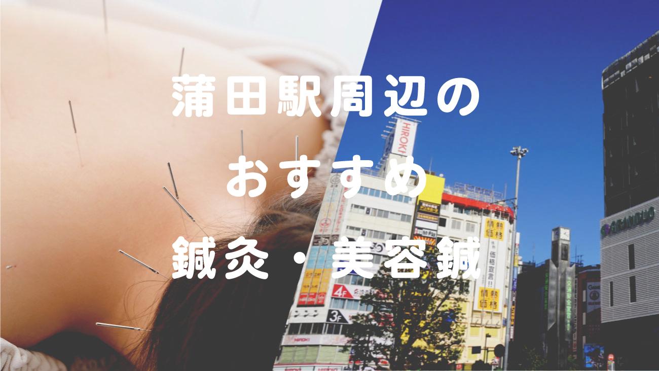 蒲田駅周辺でおすすめ鍼灸・美容鍼のコラムのメインビジュアル