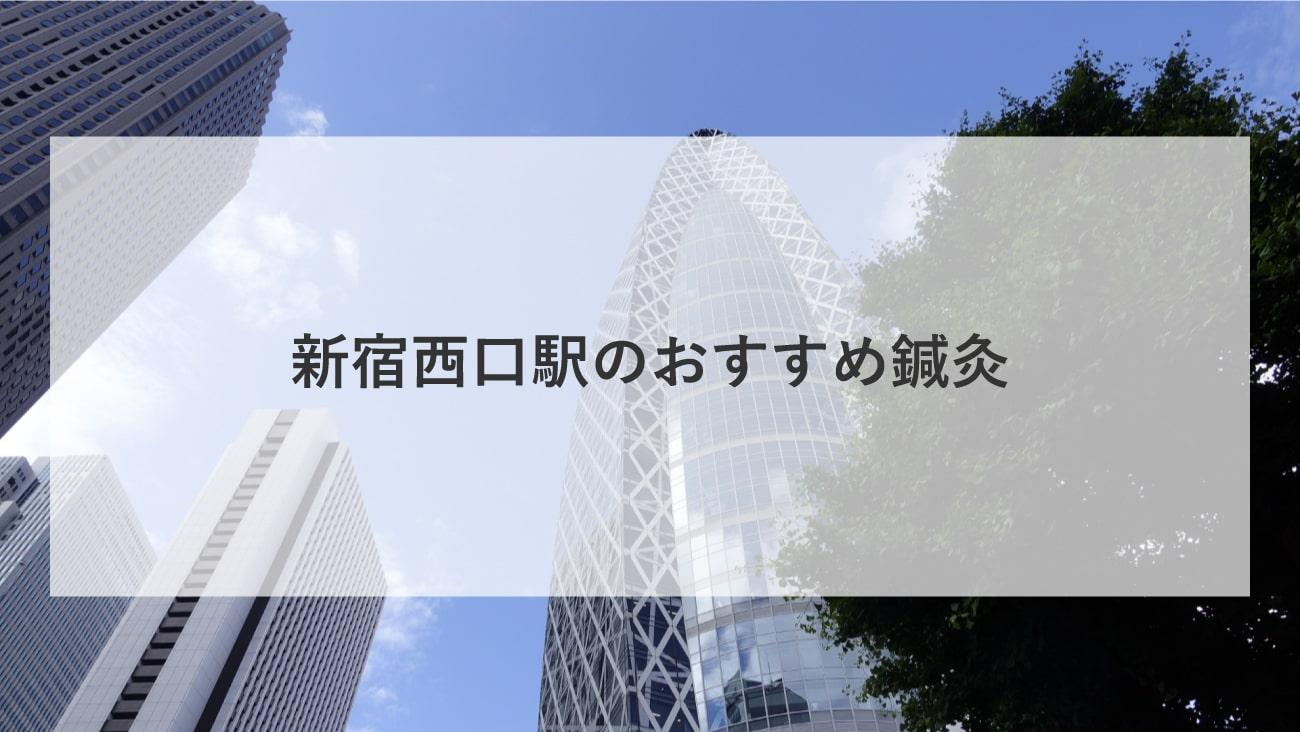新宿西口駅周辺でおすすめ鍼灸4選!口コミで評判が良い!のMV画像
