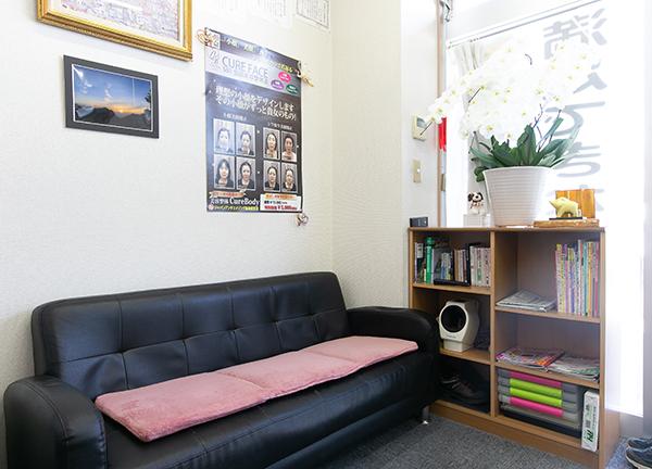 大月整体院の待合室画像