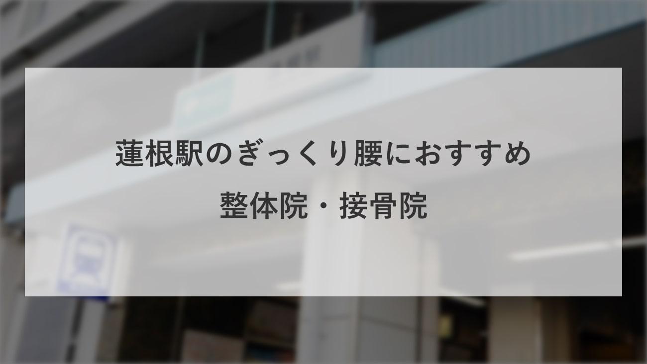 【蓮根駅】周辺でぎっくり腰におすすめの整体院・接骨院2選!のMV画像