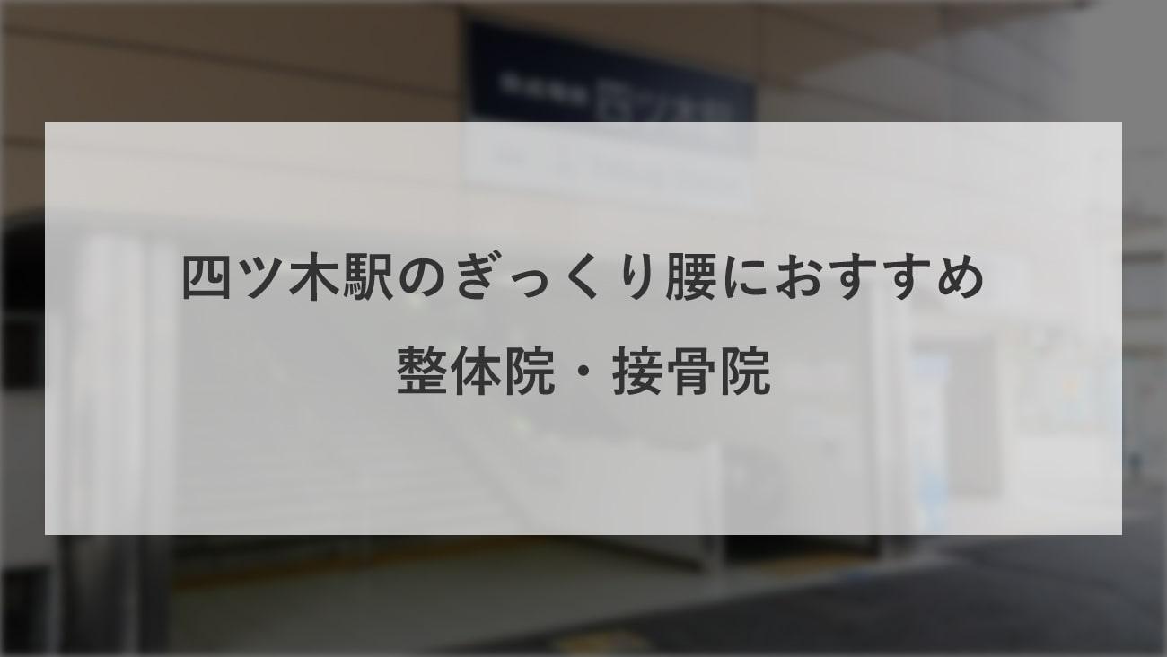 【四ツ木駅】周辺で【ぎっくり腰】におすすめの整体院・接骨院2選!のMV画像