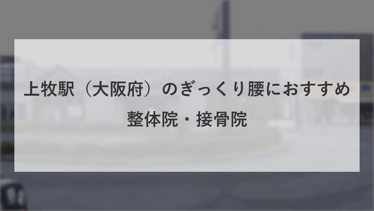 【上牧駅(大阪府)】周辺でぎっくり腰におすすめの整体院・接骨院2選!のMV画像