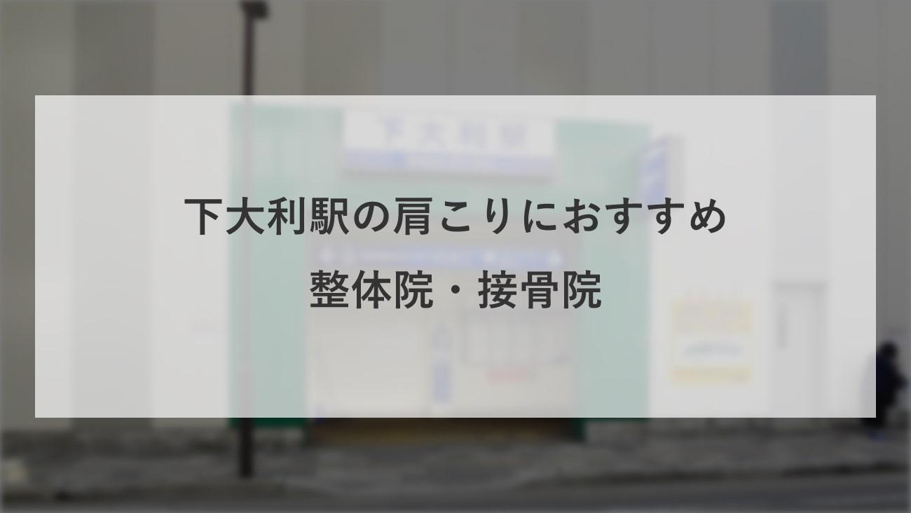 【下大利駅】周辺で【肩こり】におすすめの整体院・接骨院2選!のMV画像