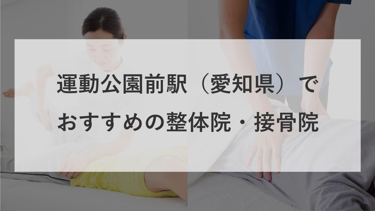 運動公園前駅(愛知県)周辺で肩こりにおすすめの整体院・接骨院のコラムのメインビジュアル