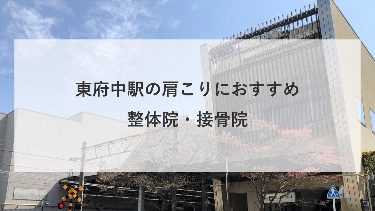 【東府中駅】周辺で肩こりにおすすめの整体院・接骨院2選!のMV画像