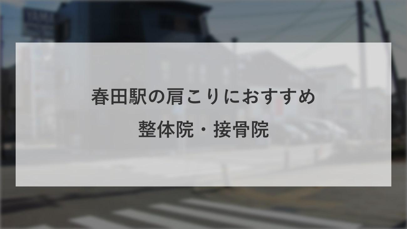 【春田駅】周辺で腰痛におすすめの整体院・接骨院2選!のMV画像