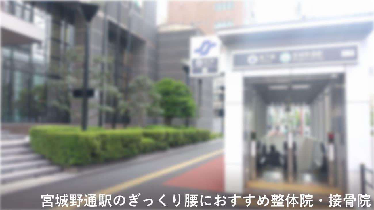 宮城野通駅周辺でぎっくり腰におすすめの整体院・接骨院のコラムのメインビジュアル