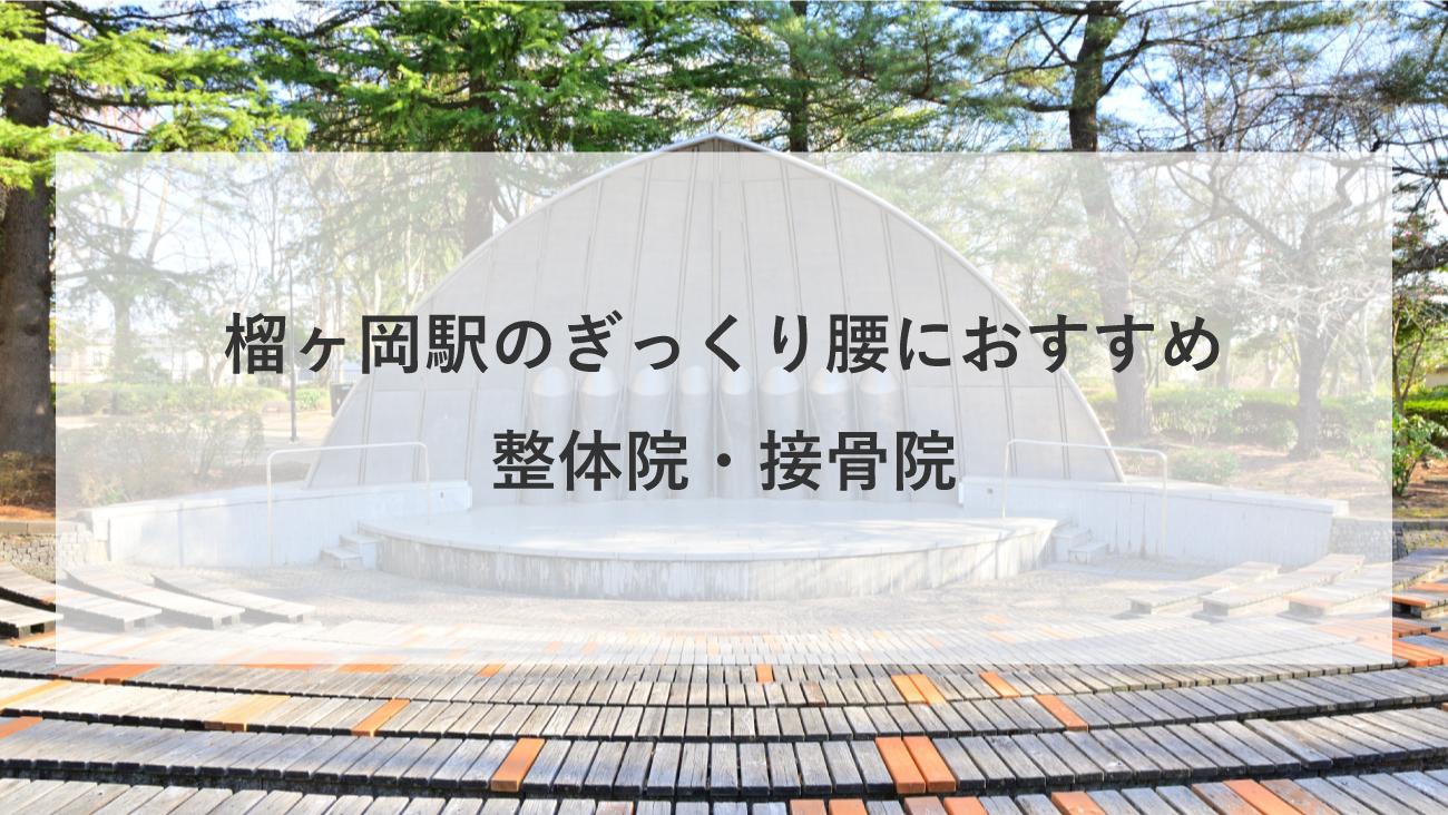 【榴ヶ岡駅】周辺でぎっくり腰におすすめの整体院・接骨院3選!のMV画像