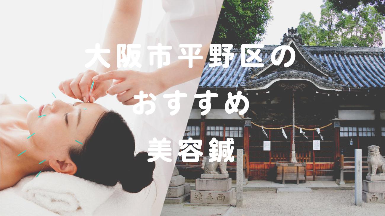 大阪市平野区で美容鍼が受けられるおすすめの鍼灸院のコラムのメインビジュアル
