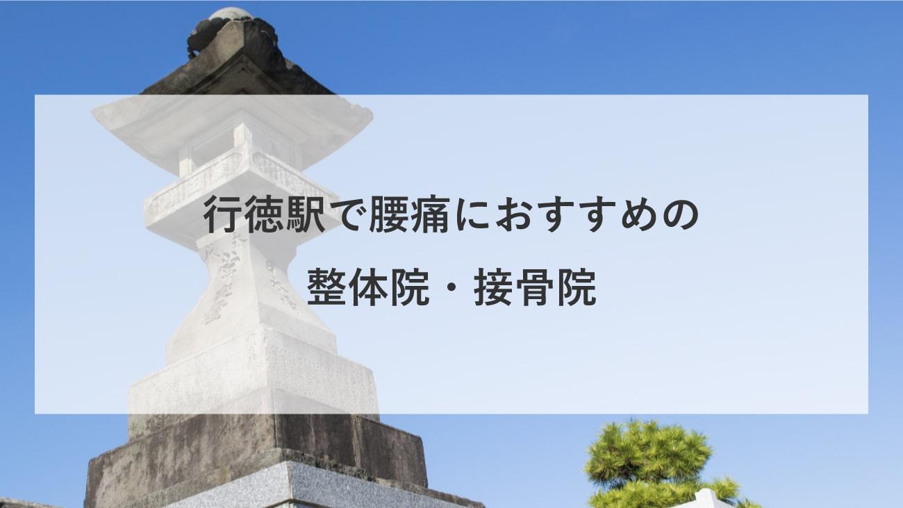 【行徳駅】周辺で腰痛におすすめの整体院・接骨院2選!のMV画像