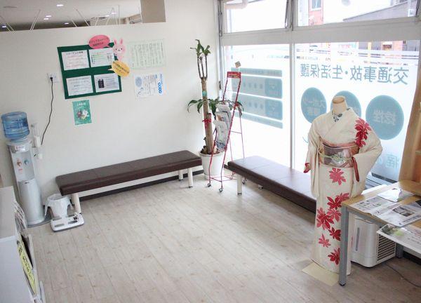 黒ゆき堂(有本はりきゅう整骨院内)の待合室画像