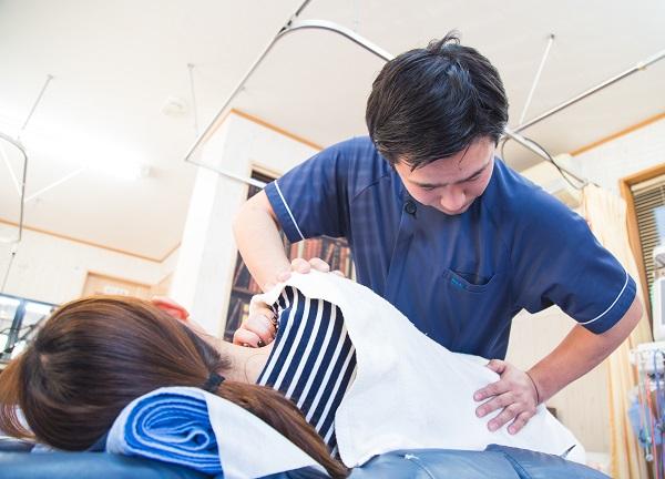 鈴木接骨院併設ドルフィンはりきゅう院の施術風景画像
